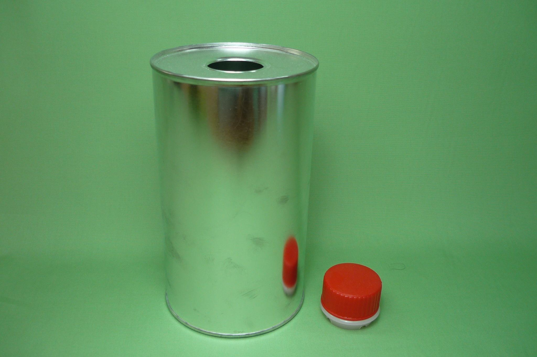 900Ml Plain 38mm Plastic Screw Cap Cans